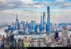 China, Shanghai City,The Bund and Pudong district skyline, Huangpu River. ©  José Fuste Raga / age fotostock - Stock Photos, Videos and Vectors