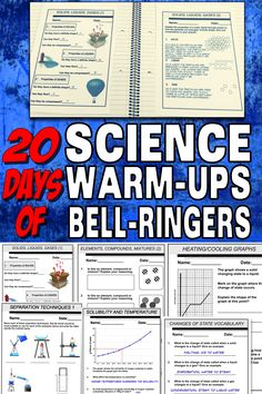 This resource has 4 weeks worth days) of warm-ups (including the answer keys). The questions have been carefully designed to get them thinking! 6th Grade Science, Science Curriculum, Elementary Science, Middle School Science, Science Classroom, Science Lessons, Science Education, Science Activities, Science Ideas