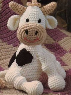CLARA COW DOLL TOY CROCHET PATTERN | the Crocheting Collectionary