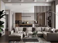VK is the largest European social network with more than 100 million active users. Room, Living Room Partition, Living Room Design Layout, House Interior, Homer Decor, Luxury Interior Design, Contemporary Room, Interior Design, Living Room Designs