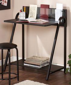 Another great find on #zulily! Black Benevento Desk & Stool Set #zulilyfinds