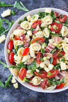 BACON CORN TOMATO PASTA SALADFollow for recipesGet your FoodFfs  Mein Blog: Alles rund um Genuss & Geschmack  Kochen Backen Braten Vorspeisen Mains & Desserts!