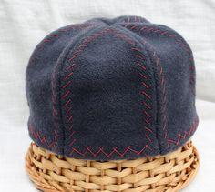 Large Dark Blue Hand Embroidered Six Panel Viking Hat aka Birka Hat Men's Norse Hat. $60.00, via Etsy.