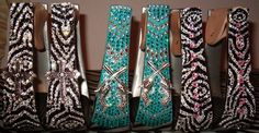 Cowhorse Creations, turquoise pistol stirrups are so me! Love love love the crosses also!