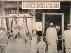 Front view of historic Bryan Market