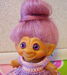 """Vintage 1964 DAM C64 2.5"""" Troll Doll"""