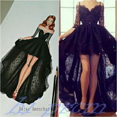 High Low Prom Dresses With Straps Sleeves Sexy Black Lace Prom Dress For Senior Teens Party Dress Charming Evening Gowns