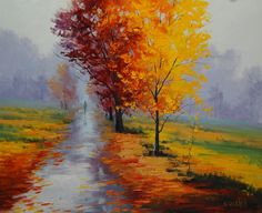 Wet Autumn Day by ~artsaus