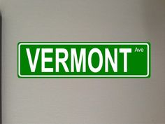 Vermont Aluminum Street sign outdoor x by GraniteCityGraphics Aluminum Signs, Aluminum Metal, Outdoor Signs, Window Decals, Street Signs, Vermont, Custom Made, Letters, Messages