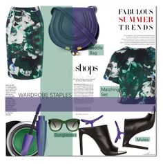 """""""Styling the Matching Set"""" by arethaman ❤ liked on Polyvore featuring Balenciaga, Estée Lauder, Chloé, Bally, mules, summer2015, saddlebag, summerstaples and floralmatchingset"""