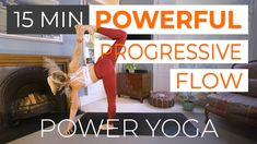 """This is a fun one! If you've only got 15 minutes to get your wiggle on then this full body power yoga class is for you. I call this class """"powerful progressive flow"""" because we'll repeat the same sequence 3 times and add a little extra spicep with each round. I love flowing like this because there's enough familiarity in the sequence to allow for more focus on form and breath, whilst also keeping things interesting. #poweryoga #yoga #yogi #yogaforlife Online Yoga Classes, Full Body, Repeat, Flow, Times, Workout, Work Out, Total Body Workouts, Exercises"""