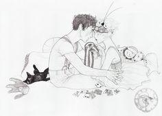 Personal Illustration by Sarah Dvojack, via Behance