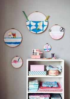Different uses for embroidery hoops - Issue 7 by 91 Magazine #crafts