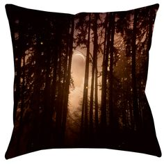 Forest Skyline Printed Throw Pillow