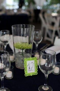 Navy Green Wedding Reception Decor 275x412 Classic Bayside Maryland Wedding Reception: Marie + Scott