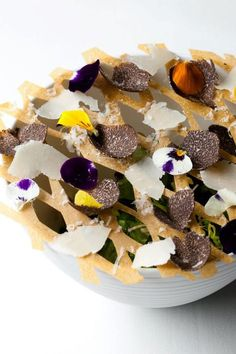 Pastoral salad, black truffle, parmesan, fines herbs | L2O Restaurant