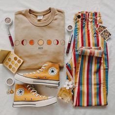 Indie Outfits, Retro Outfits, Cute Casual Outfits, Fall Outfits, Vintage Outfits, Grunge Outfits, Aesthetic Fashion, Aesthetic Clothes, Teen Fashion
