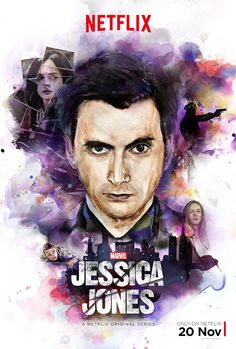 AKA Jessica Jones Hype Poster - David Tennant as villain Kilgrave freaks the crap out of me. It's like seeing 10 go crazy.