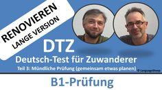 Deutsch lernen: B1-Prüfung (DTZ) -- mündliche Prüfung -- (Renovieren) ge...