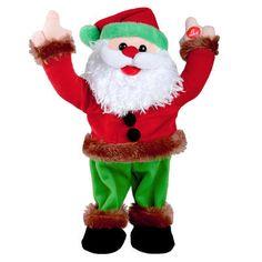 33cm Musical Dancing Disco Santa Figure Christmas Decoration