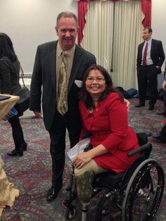 CMAP executive director Randy Blankenhorn with Congresswoman Tammy Duckworth at EPA Smart Growth Awards Capitol Hill reception.