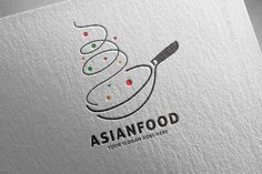 Asian Restaurant Logo by salmon.black on @creativemarket