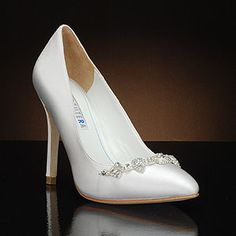david tutera tiara white  Wedding Shoes