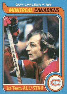 Guy Lafleur - All Star 1979 - Montreal Canadiens - Topps - ex/mt Bruins Hockey, Hockey Teams, Hockey Players, Ice Hockey, Hockey Pictures, Sports Pictures, Montreal Canadiens, Hockey Cards, Football Cards