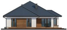 Elewacja tylna projektu Hipokrates My House Plans, House Floor Plans, Bungalow, Gazebo, Shed, Outdoor Structures, Flooring, Outdoor Decor, Home Decor
