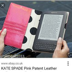 Kate Spade hot pink patent leather kindle cover Excellent condition only used twice! Snapdragon pink, fits kindle keyboard kate spade Accessories Tablet Cases