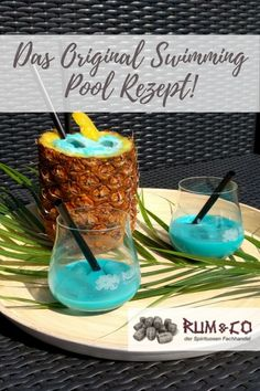 The original swimming pool recipe! - You should definitely try this cocktail! pool You should defi - Cocktails Bar, Prosecco Cocktails, Healthy Cocktails, Winter Cocktails, Whiskey Cocktails, Refreshing Cocktails, Cocktail Drinks, Mojito, Cocktail Recipes Ginger Beer