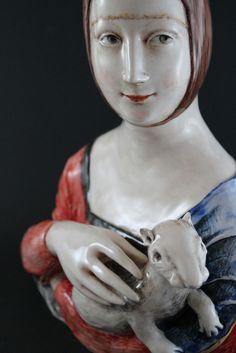 White Clay, Sculpture, Statue, Lady, Sculptures, Sculpting, Carving