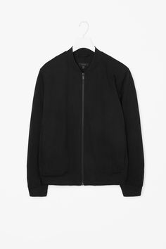 This jacket is made from a cotton-mix with contrasting ribbed cuffs, hem and neckline. A relaxed fit, it has hidden side pockets, set-in sleeves and a zip fastening along the front. It is finished with a comfortable jersey lining.