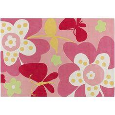 Artisan Weaver Sunland Floral Rug, Pink