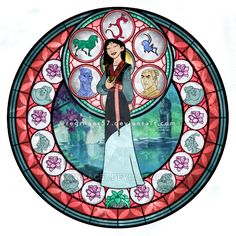 Mulan - Kingdom Hearts Stain Glass by reginaac57 on DeviantArt