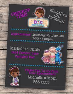 Doc McStuffins Birthday Invitation 001 Doc by OneSharpShindig, $12.00