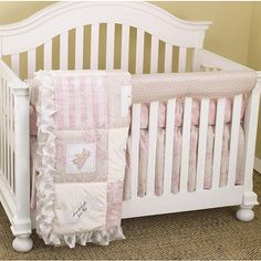Cotton Tale Heaven Sent Girl Front Crib Rail Cover Set