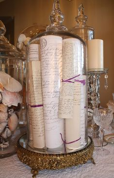 What a wonderfully romantic way to preserve and display old letters!