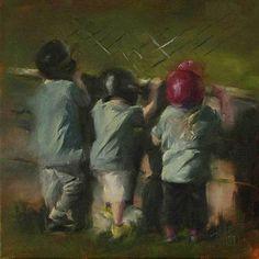 On Deck by Lori Twiggs Oil ~ 12 x 12