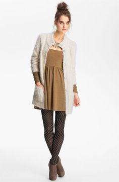 Free People Feather Knit Cardigan | Nordstrom - This entire outfit is waaaaay too cute.