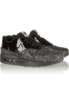 NIKE Air Max 1 metallic bouclé and patent-leather sneakers €190.00 http://www.net-a-porter.com/products/511265