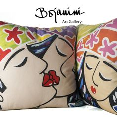 Arte Pop, Home Deco, Art Gallery, Anna, Arts And Crafts, Throw Pillows, Abstract, Inspiration, Cute Designs