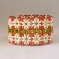 super duo beading pattern bracelet | Super Duo Bead Patterns | ... Pickets Bracelet ...