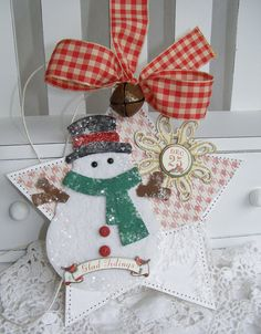 Snowman tag by Paper Bistro on etsy. Love her work!