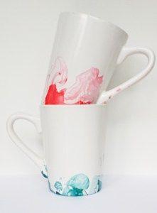 Marbled Nail Polish Mugs