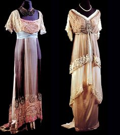 Early 20th Century Silk Evening Gowns.