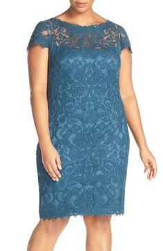 0f2da1bf37e0 Tadashi Shoji Cap Sleeve Lace Sheath Dress (Plus Size)