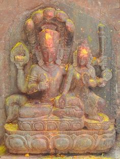 Lakshmi Narayan statue at Naksaal, kathmandu.