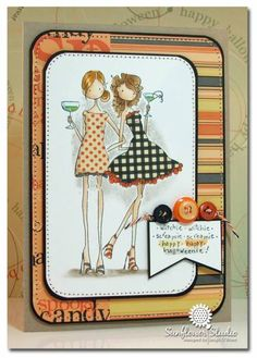 HALLOWEEN UPTOWN GIRLS by leigh obrien - Cards and Paper Crafts at Splitcoaststampers
