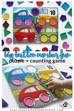 How to Get Toddlers Counting Using the Big Button Number Fun Game. Use this puzzle counting game to teach your toddler to count. Great for color sorting too! Everyone's Sleeping but Mom Counting For Toddlers, Alphabet For Toddlers, Counting Games, Games For Toddlers, Fun Games, Newborn Activities, Montessori Activities, Preschool Activities, Baby Activites